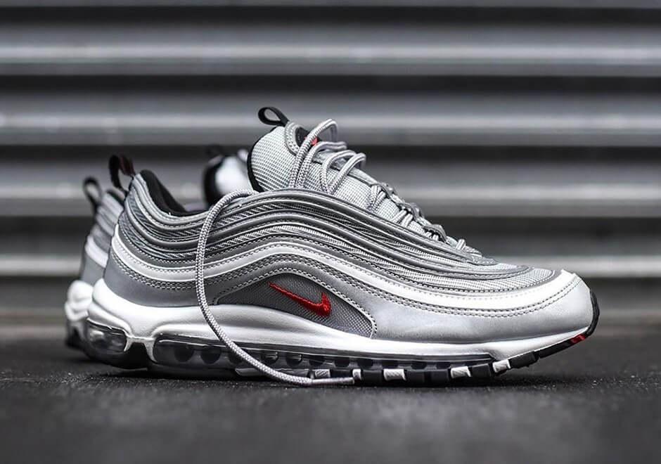 Nike Air Max 97 Silver Bullet. Зимние кроссовки найк. Стильные ... b28ad4a80be23