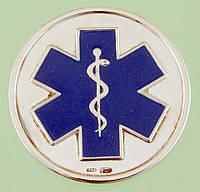 Срібна медаль з емаллю