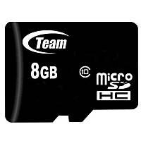 ⇒Карта памяти TEAM 8 GB microSDHC 10 class высокоскоростная для смартфона планшета видеорегистратора☜