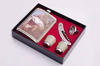 Набор подарочный: фляга 270 мл, 2 рюмки, лейка, штопор