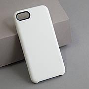 Кожаный чехол без яблочка на iPhone 7/8 White