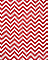 Подарочная бумага (упаковочная)  красного цвета в белые зиг-заги