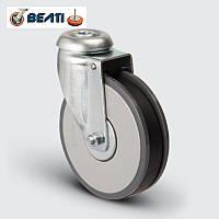 Колесо для покупательских тележек поворотные с отверстием 125мм
