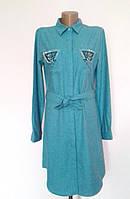 Платье-рубашка женская однотонная под пояс My POLO Турция
