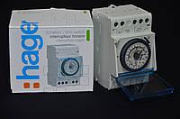 EH111 Таймер аналоговий добовий 16А, 1 перем.контакт, запас ходу 200 год Хагер