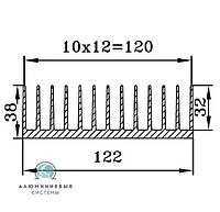 Радиаторный профиль для светодиодов  122х38 / б.п.
