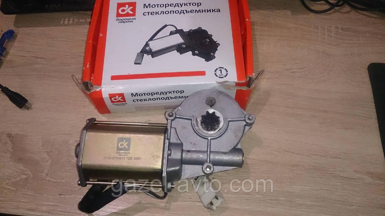 Моторедуктор стеклоподъемника Газель,Волга левого 12В, 30Вт (пр-во ДК)