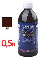 Краситель для открытых типов кож Saphir Teinture Francaise, 500 мл, цв. средний табак (35)