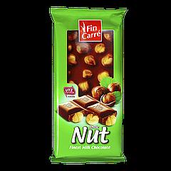 Шоколад Fin Carre Whole Nuss 100г с цельными лесными орехами