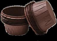 Формы бумажные для кексов с бортиком коричневые, 55*35 мм