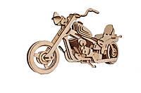 Механический деревянный 3D пазл РЕЗАНОК Мотоцикл Харлей Дэвидсон 110 деталей (REZ0002)