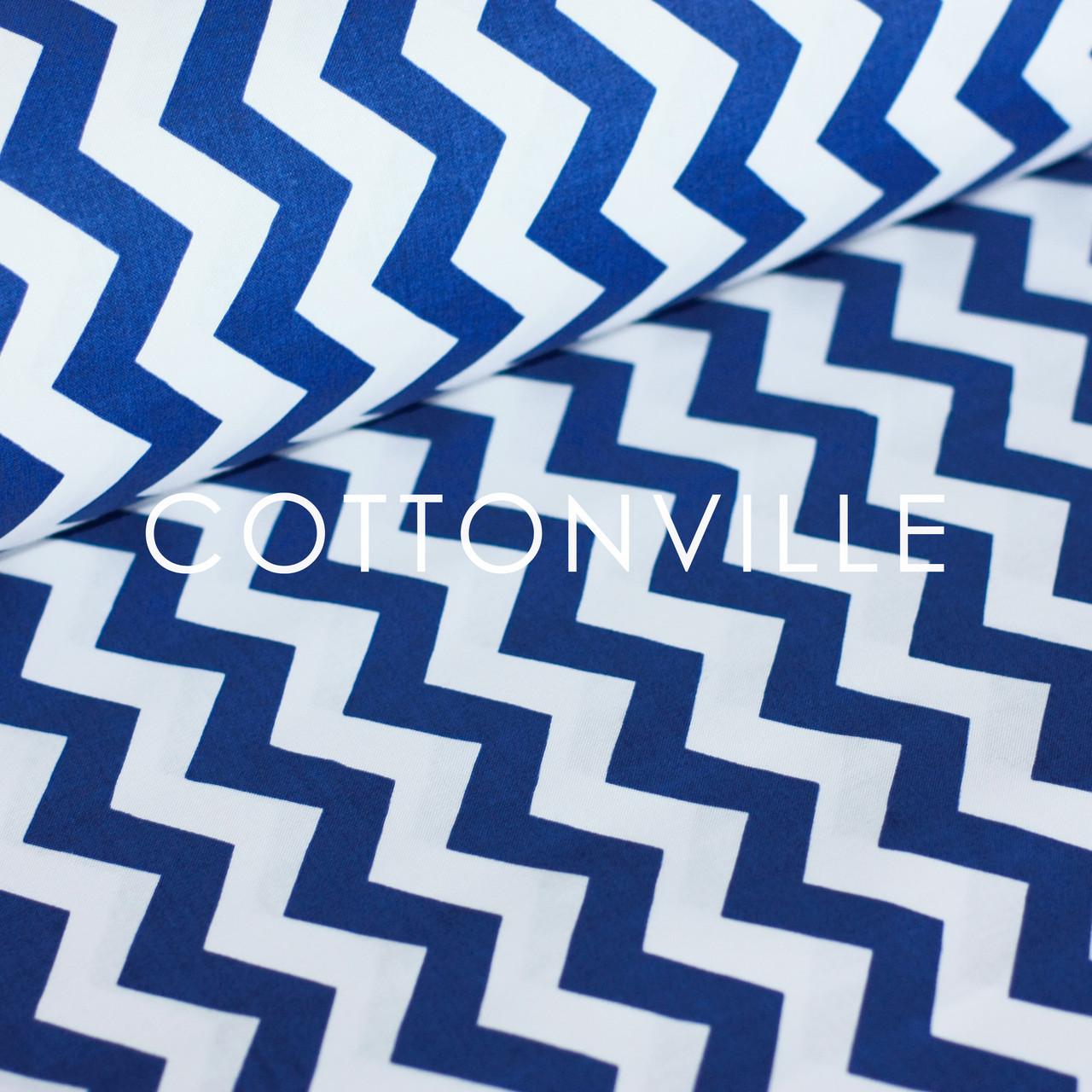✁ Отрезы ткани Синие зигзаги