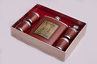 Набор подарочный: фляга 540 мл, 4 рюмки, лейка