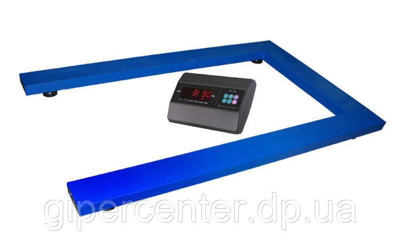 Весы паллетные TRIONYX П0812-ПЛ-600 Keli xk3118t1 до 600 кг, 800х1200 мм
