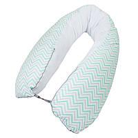 """Подушка для беременных  для сна и кормления """"Caramel zigzag"""""""