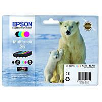Комплект струйных картриджей Epson для Expression Premium XP-600XP-605XP-700 №26 B/C/M/Y