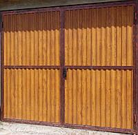 Гаражные ворота из профнастила.