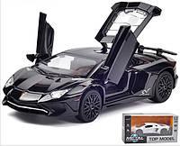 Инерционная  машинка Lamborghini металлическая , свет,звук, двери, капот открываются, масштаб 1:32