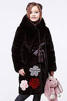 Зимняя шуба для девочки Кики из эко-меха размеры 34-36