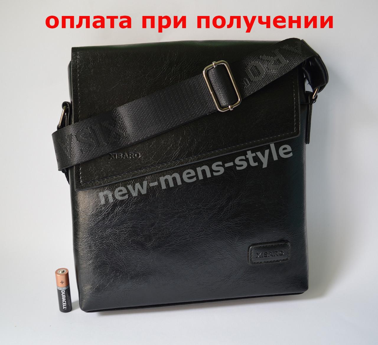 Мужская кожаная фирменная сумка барсетка XISARO классика купить