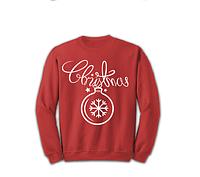 Свитшот красный CHRISTMAS