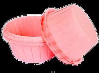 Формы бумажные для кексов с бортиком розовые, 55*35 мм