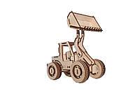 Механический деревянный 3D пазл РЕЗАНОК Бульдозер 87 элементов (REZ0004)