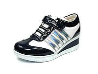 Детская спортивная обувь кроссовки:105-86 Син+Белый