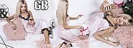 Бархатная велюровая женская пижама брюки маечка с кружевом норма и батал