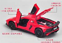 Инерционная  машинка Lamborghini металлическая со световым и звуковым эффектом, масштаб 1:32