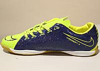 Футзалки мужские Nike Flykniti light green - gray