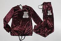 Велюровый спортивный костюм для девочек 158 размеры Цвет вишневый