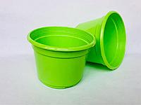 Горщик пластиковий D12 салатовий