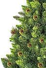 Искусственная елка 2,2 м ПВХ с шишками и подставкой, рождественская новогодняя ель, фото 4