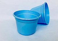 Горшок пластиковый D12 голубой