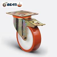 Колеса поворотные большегрузные с тормозом для тележек полиамид-полиуретан 125мм