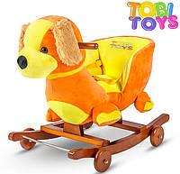 Плюшевая качалка-каталка 3 в 1 Собачка марки Tobi Toys