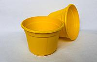 Горшок пластиковый D12 желтый