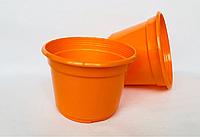Горшок пластиковый D12 оранжевый