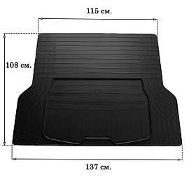 Резиновый авто коврик в багажник L (137см Х 109см) Stingray 3023011