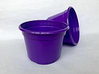 Горшок пластиковый D12 фиолетовый