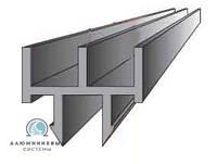 Профиль ш-образный для раздвижных дверец в торговую мебель.  серый  5мм (1500мм), фото 1