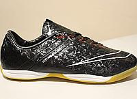 Мужские футзалки Nike Flykniti black and red