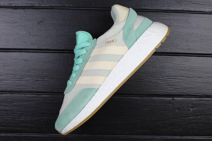Кроссовки женские adidas Iniki Runner Easy Green Cream White / ADW-1429 (Реплика)