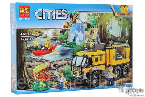 Конструктор Bela Cities Бела 10711 (Lego City 60160) Передвижная лаборатория в джунглях 465 дет
