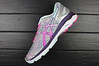 Кроссовки женские Asics Gel Kayano 23 Silver/Pink Glow/Parachute Purple (Асикс Гель Каяно) / ASC-900 (Реплика)