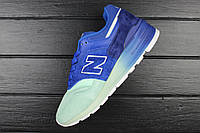 Кроссовки женские New Balance 997 Home Plate Pack Made In USA M997NSB Blue/Turquoise / NBC-1556 (Реплика)