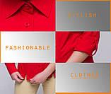 Классическая блузка с рукавом (красная), фото 6