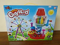 Игровой набор цветного пластилина Candy World, 5 цветов
