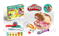 Набор тесто для лепки Play-Doh Стоматолога Мистер Зубастик, звук, 5 цветов